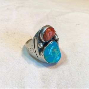 VTG Navajo Denny Sterling Silver Turquoise Ring